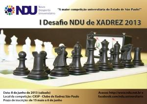 Cartaz Desafio de Xadrez